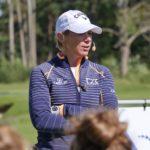 Annika Sörenstam vid ANNIKA Invitational 2018 på Kungliga Drottningholms Golfklubb