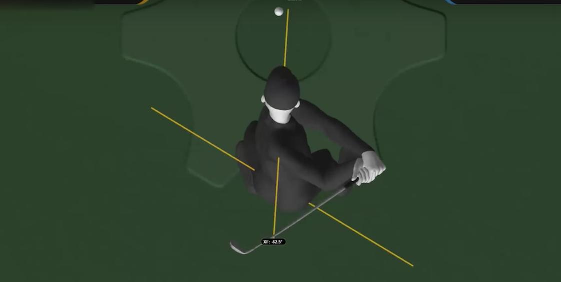 X-faktor golf höft och axlar roterar