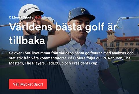 Strema golf på C More