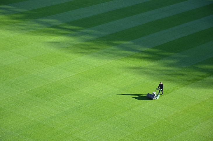 Singelklippare på golfbana