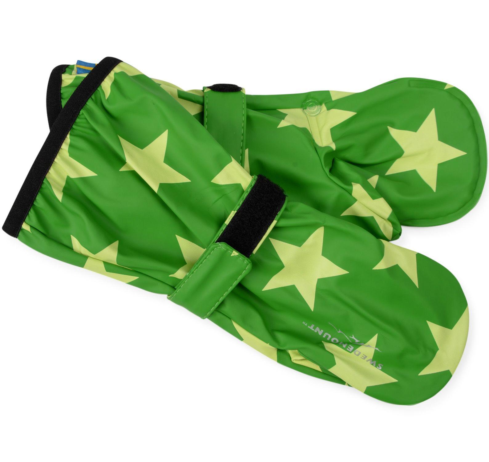 Dropp Rainglove, Green/Green Star, 0-2y, Regnkläder