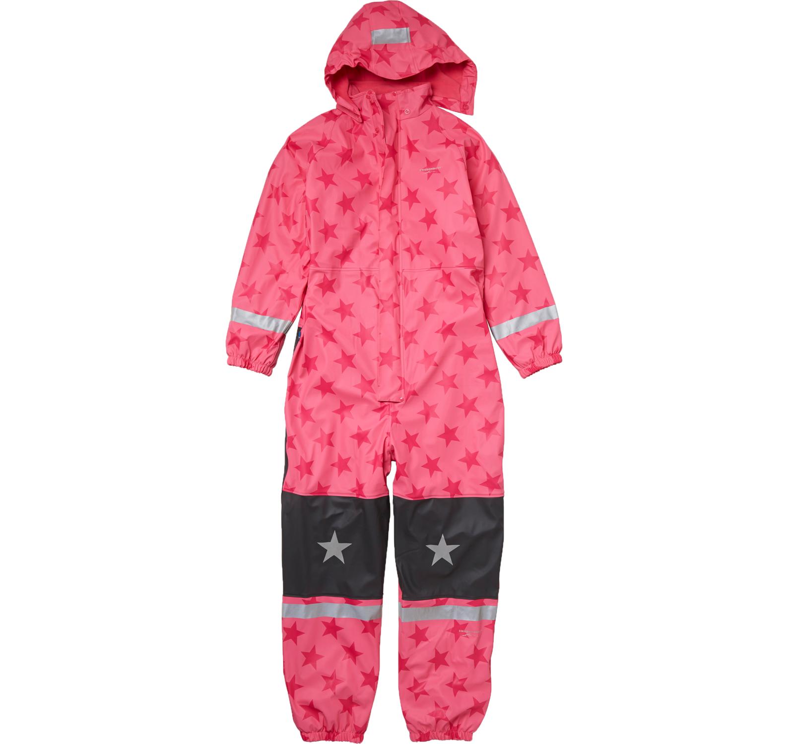 Frost Rainoverall, Pink/Pink Star, 120, Regnkläder