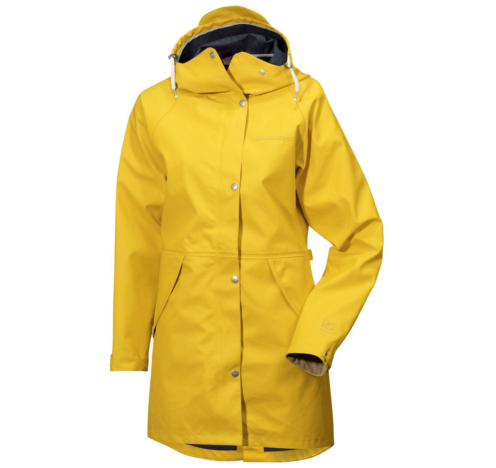 Hedvig Wns Coat, Yellow, 34, Didriksons Regnkläder