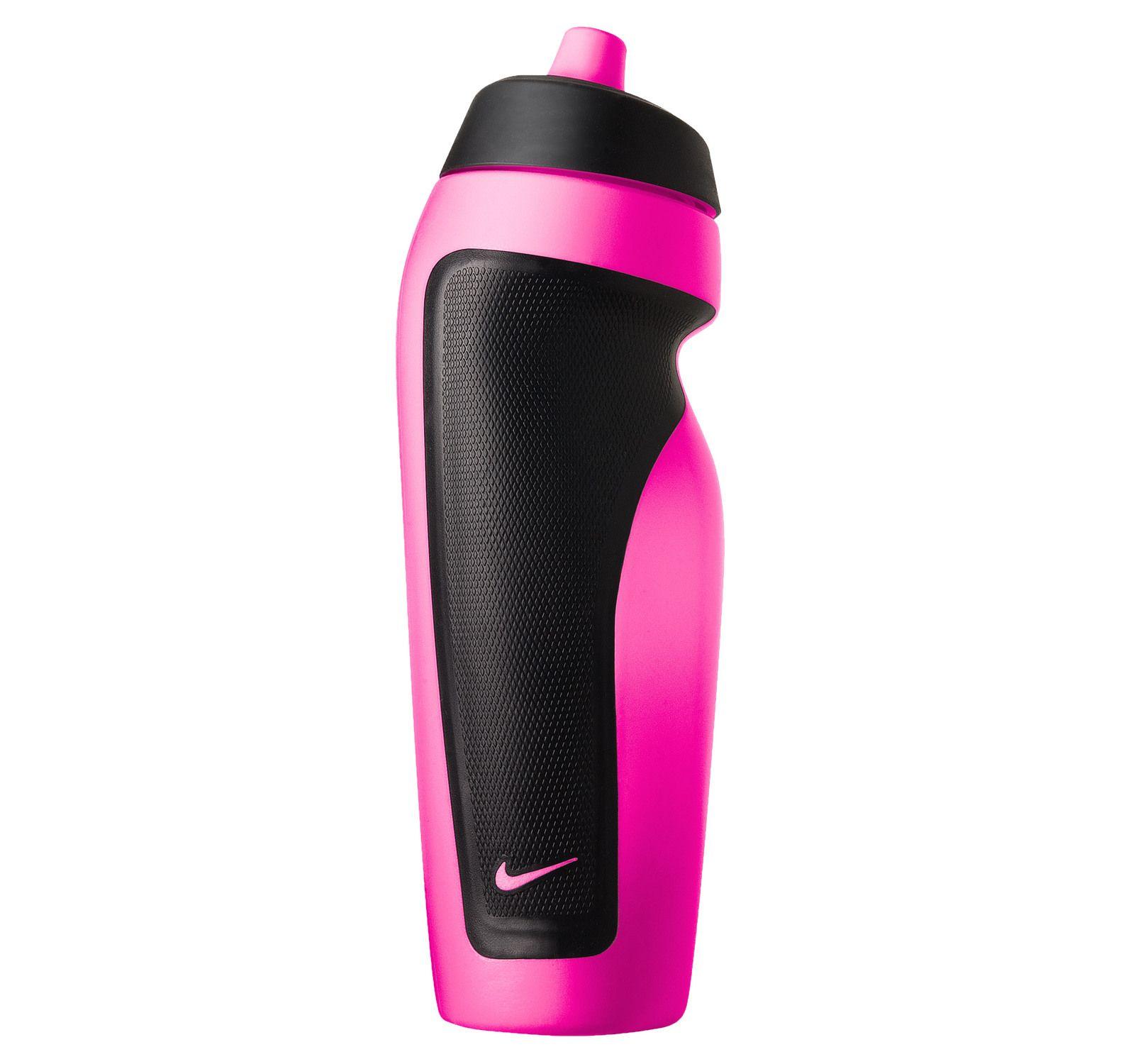 Nike Sport Water Bottle, Pink Pow/Black, Onesize, Nike