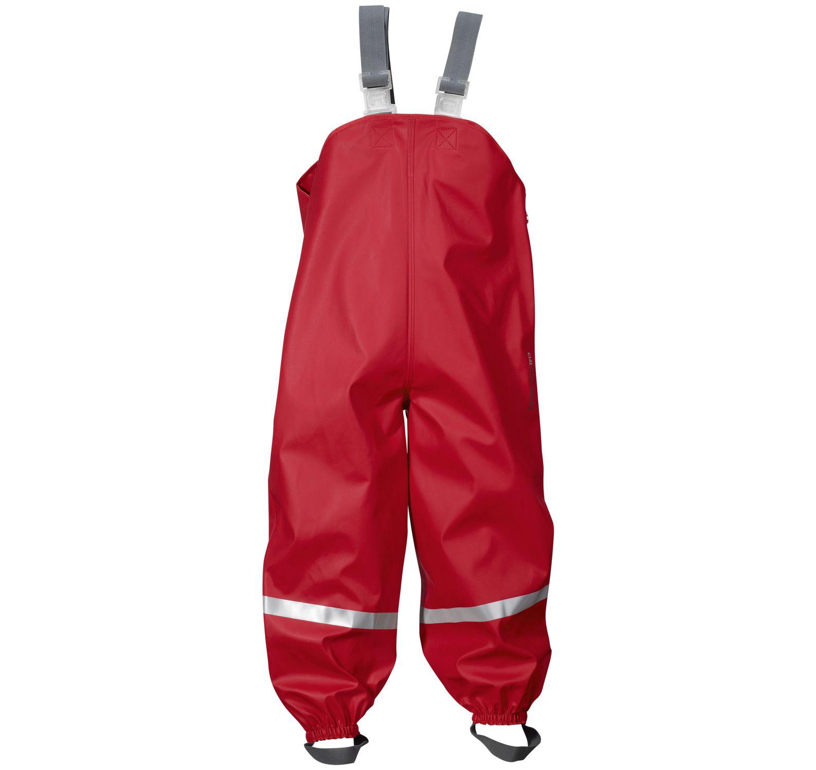 Plaskeman Pants, Flag Red, 120, Didriksons Regnkläder