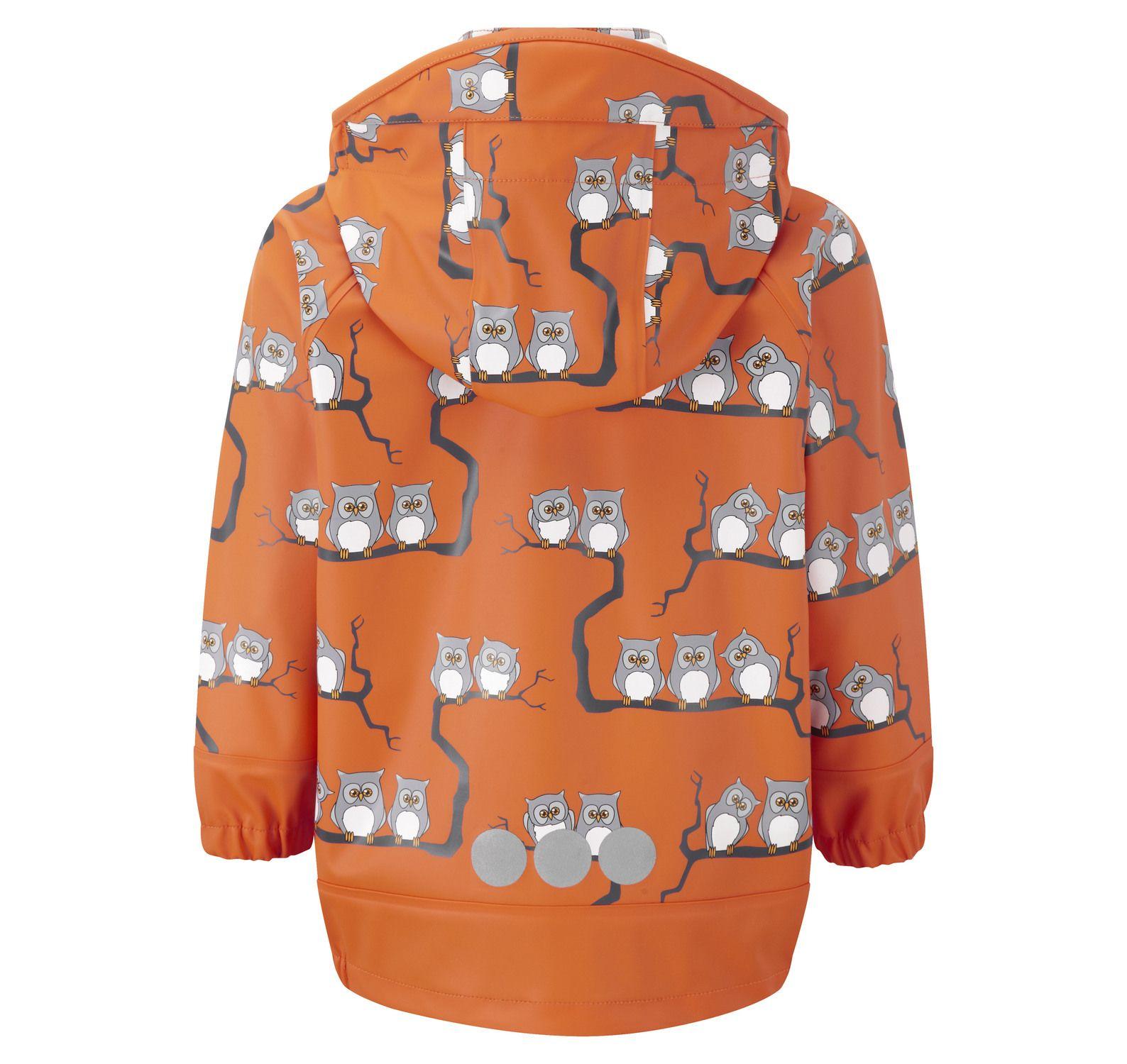 Rain Jkt Owls Unlnd, Orange, 100, Regnjackor