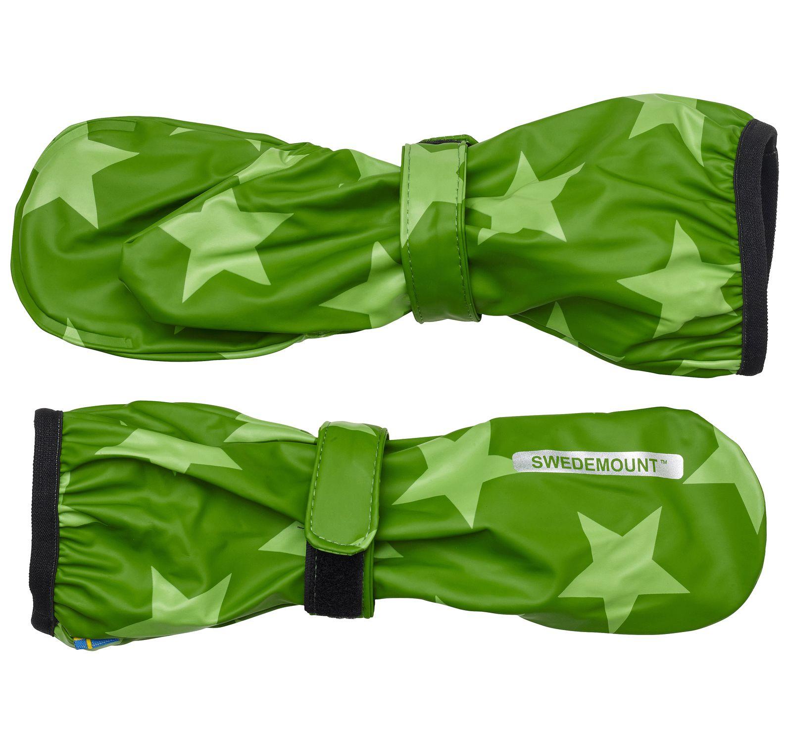 Dropp Rainglove, Dk Green/Lt Green, 4-6y, Regnkläder