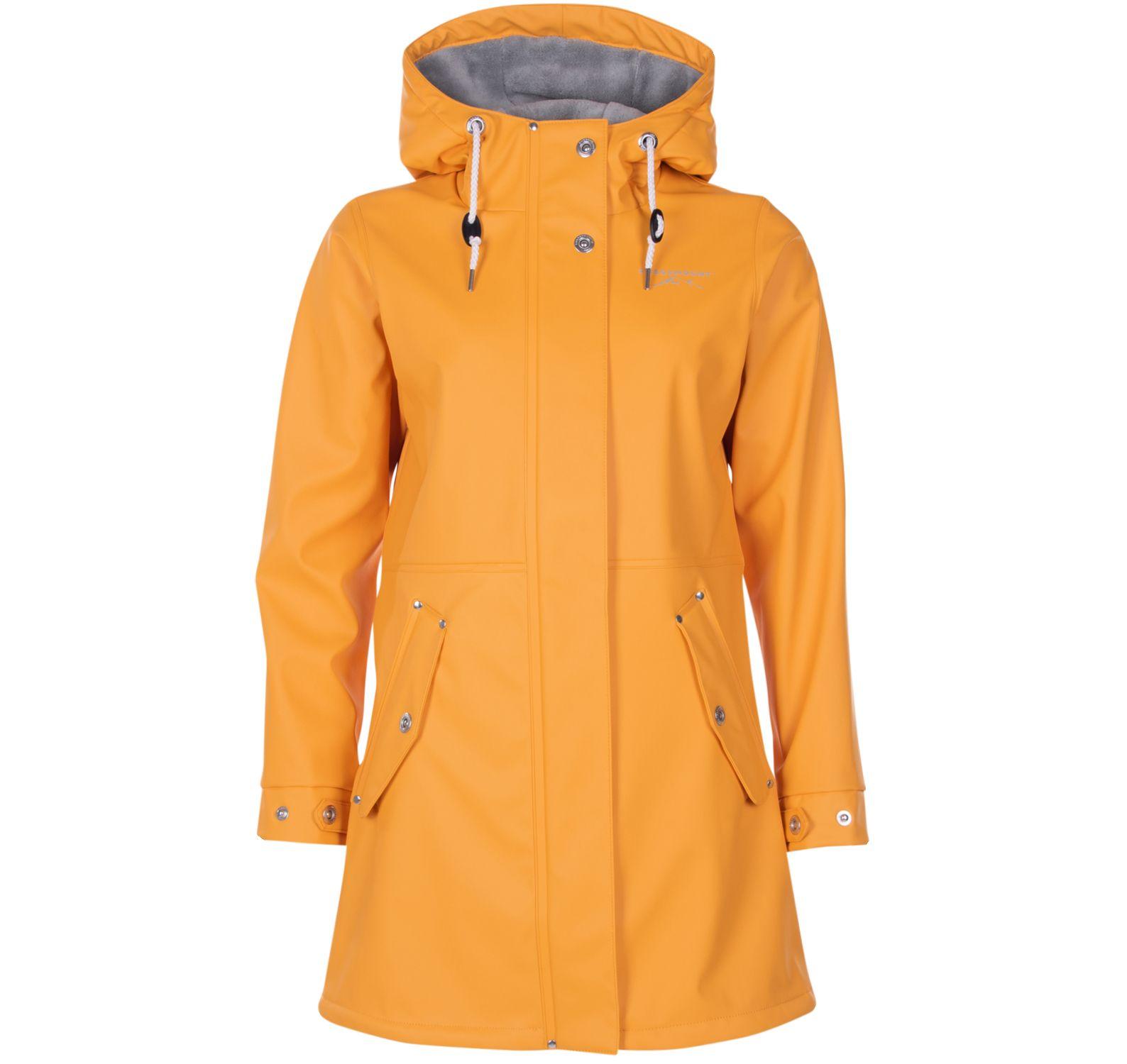Lammö Coat W, Mustard Yellow, 34, Regnkläder