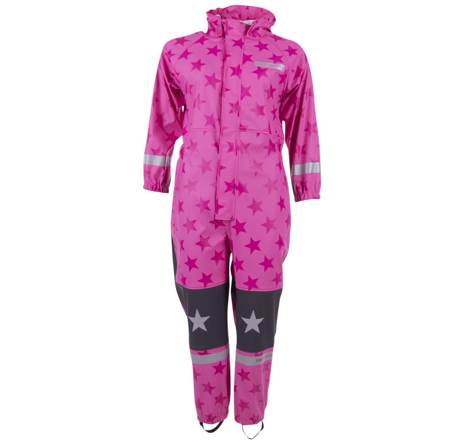 Skur Rainoverall, Pink/Dk Pink, 130, Regnkläder
